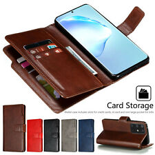 Double Flip Magnetic Leather Wallet Case Cover for Samsung Galaxy S20 S9 A51 A71