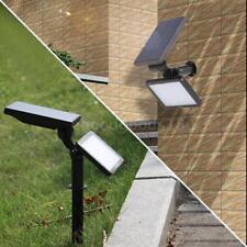 Energia solare 48 LED riflettore giardino prato lampada luce paesaggio O8B2
