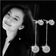 Ladies Hook Sparkling Tassel Shambhala Earrings Fashion Silver christmas Gift