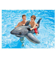 Intex Great White Shark Ride-On/Kids Inflatable Pool Ride On Floating Toy/Handle