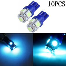 10PCS T10 168 194 2825 501 Ice Blue 5SMD 5050 Car LED Wedge Light Plate License