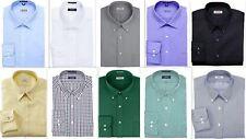 Mens Shirt IZOD Regular Fit Cotton Rich Easycare Long Sleeve