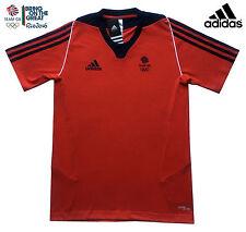 ADIDAS TEAM GB ISSUE RIO 2016 - ELITE ATHLETE RED COTTON TEE SHIRT Size 34/36
