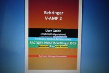 Behringer V-AMP2:  User Guide&Factory Presets Settings Log+TEMPLATE(Secured PDF)