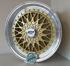 4xGTP 040 Alufelgen 7,5x17 4x100 4x108 ET35 gold BBS RS style Honda KIA VW Golf