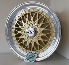 4xgtp Cerchi in lega 040 7,5x17 4x100 4x108 et35 ORO BBS RS style HONDA KIA VW Golf