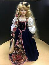 "Ashley Belle 21"" Vintage Porcelain Doll With Stand"