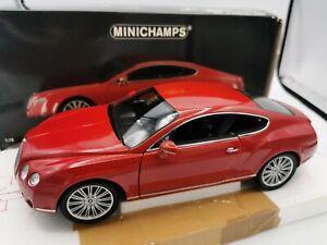 BENTLEY CONTINENTAL GT 2008 RED ROUGE  1/18 MINICHAMPS 100139620