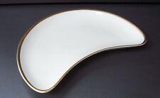 Vintage Minton Horizon Bone China Crescent Shape Side Dishes/Plates, H-5252 Gold
