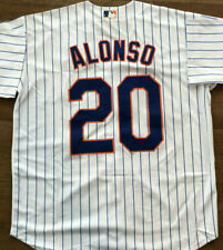 Pete Alonso #20 New York Mets White Jersey Large