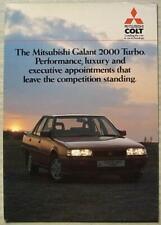 MITSUBISHI COLT GALANT 2000 TURBO Car Sales Brochure 1985