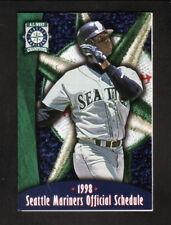 Seattle Mariners--Ken Griffey, Jr--1998 Pocket Schedule--Progressive Insurance