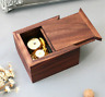 WALNUT  WOOD  SlIDE WIND UP MUSIC BOX  ♫  BEAUTIFUL DREAMER  ♫