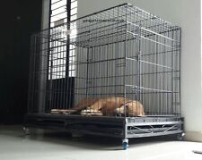"Large Strong Dog Cage for Rottweiler, GSD,Poodle,Boxer & Labrador(48"") 6 WHEELS"