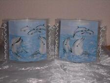 Tischlicht/Windlicht Delphine/Delfine -  Maritim