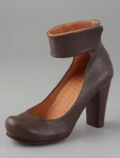 CHIE MIHARA SHOES MEDIODIA ANKLE WRAP PUMPS TAUPE LEATHER HEELS BOOTIES 39 $360