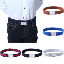 Boys Magnetic Buckle Belt Canvas Elastic Waist Belts Stretch Kids Waist Band