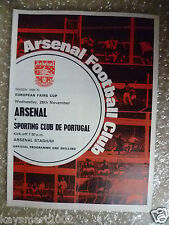 1969/70 Arsenal V Sporting Club de Portugal, 26 Nov (European FIERE Tazza)
