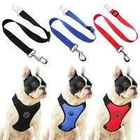 Adjustable Small Pet Dog Cat Harness Seat Belt w/ Leash Puppy Soft Vest Harness