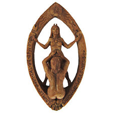 Drawing Down The Moon Wall Plaque | Wood Finish Dryad Designs | Pagan Wiccan