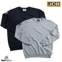 JCB Essential Mens Basic Sweatshirt Sweater Jumper Workwear Work Top Pullover