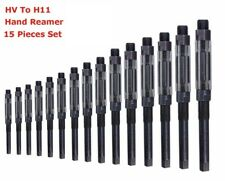"""15 Pcs Set Adjustable Hand Reamer  Size  HV To H11 ,1/4"""" Inch To 1.1/16"""" Inch"""