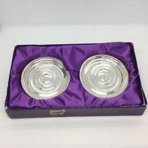 Two Sterling Silver New Zealand  Walker & Hall (N.Z.) Coasters