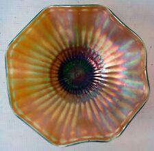 Northwood Carnival Glass Bowl Wavy Edge