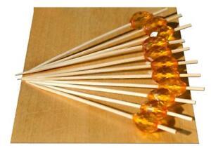 Amber Crystal bead wood skewer – 9cm x 500 - GOTO
