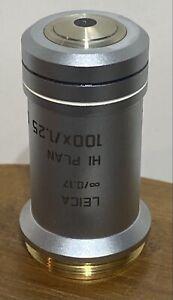 Leica 506238 HI PLAN 100x/1.25 OIL ∞/0.17 Microscope Objective