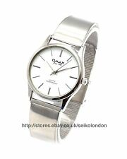 Omax unisex Gents / Ladies Watch, finitura argento, Seiko (Giappone) movt. RRP £ 49.99