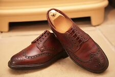 Crockett & Jones For Rogerson Brown Leather Brogues shoes UK 6