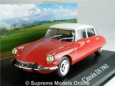 CITROEN DS Model Car 1963 1 43 Size Saloon 60's IXO Mythiques Red 4 Door R01