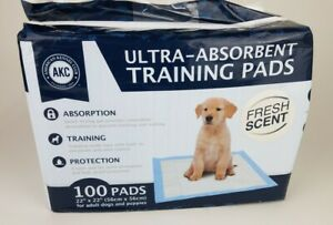 """AKC American Kennel Club Pet Training & Puppy Pads 22"""" x 22"""" Fresh Scent- 100 Ct"""