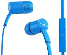 Écouteurs bleus audio et hi-fi avec fil