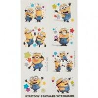 MINIONS DESPICABLE ME 3 TATTOO PARTY FAVOURS SUPPLIES