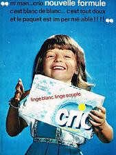 PUBLICITE ADVERTISING 114  1963  CRIO  lessive