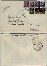 RSI-50c MONUMENTI DISTRUTTI (507)-Busta espresso LESENO->Verona 28.3.1945