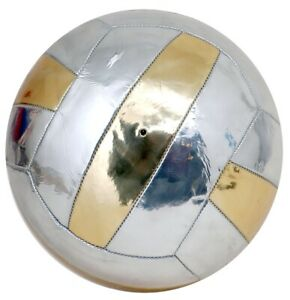 Leather-Look Silver Gold PU Volleyball Size 4 18 FACTORY SECONDS RRP14.99