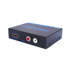 Newest 4K 2K HDMI to HDMI + SPDIF + RCA L / R Audio Extractor Converter Black