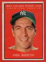 1961 Topps #471 Phil Rizzuto VG-VGEX+ WRINKLE MVP New York Yankees FREE SHIPPING