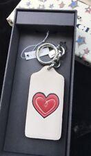 Coach Boxed Heart ❤️ Hangtag Bag Charm Key Chain FOB 58863B (Silver)