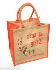 """Nana is Great"" Jute Shopper from These Bags Are Great - Good size bag"