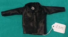 Black Satin Jacket with 2 Large Breast Pockets for Barbie Doll C359