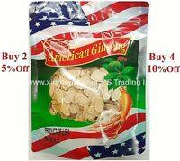 Premium Grade American Round Ginseng Slice, 100% Hand Selected  (4oz/8oz/16oz)
