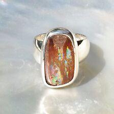 Boulder Opal Ring, 925er Silber, Edelsteinring (21507), Edelsteinschmuck