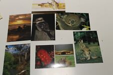 MINT AUSTRALIAN POSTCARDS SERIES IV - 6 GLOSSY ANIMAL CARDS - PREPAID