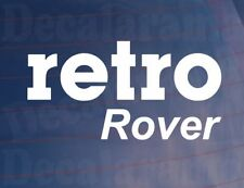 RETRO ROVER Vinyl Classic/Vintage Car/Van/Window/Bumper Sticker/Decal