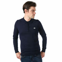 Mens Le Shark Ditchling Long Sleeve Polo Shirt In Blue- Long Sleeve- Ribbed