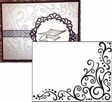 Corner Scroll embossing folder 1217-68 Darice embossing folders 5x7 borders